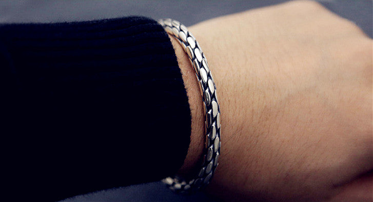 Hand Braided 925 Silver Bangle (14)
