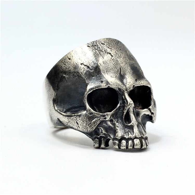 Medium Size Punk Skull 925 Silver Ring