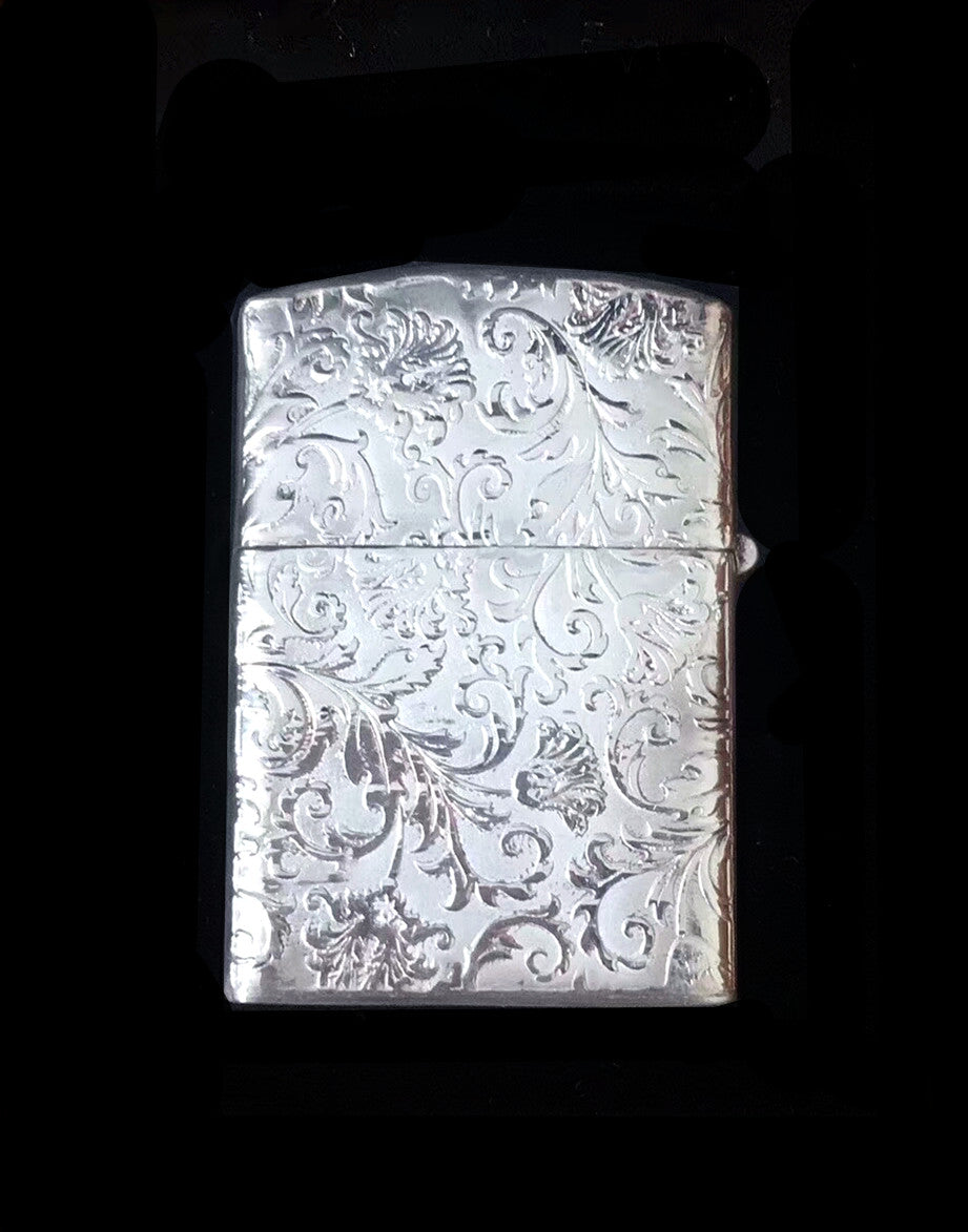 Vintage Pure 999 Silver ZIPPO Lighter Case (6)