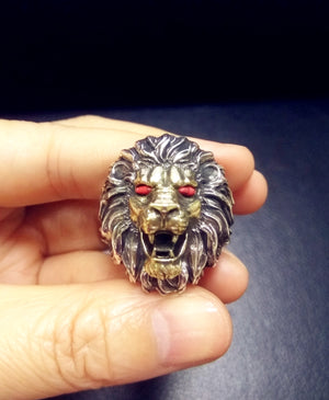 Tararia 3D Lion Pure Silver Ring