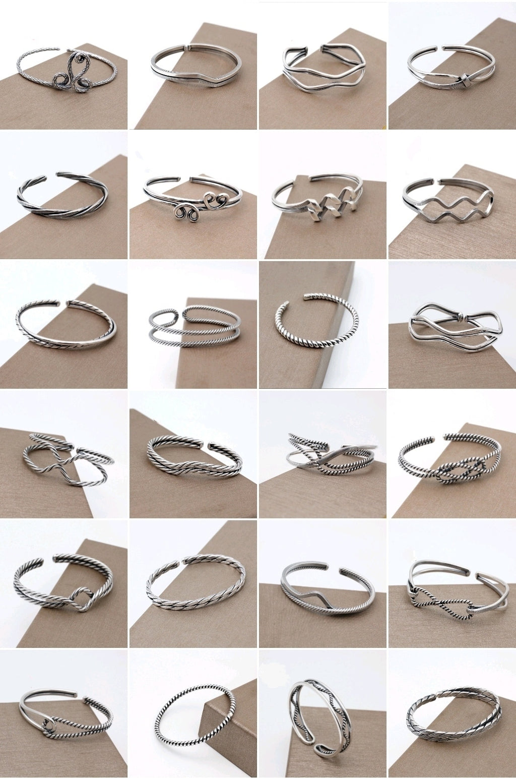 Hand Braided 990 Silver Bangle
