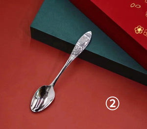 Vintage Handmade Pure 999 Silver Spoon Collection