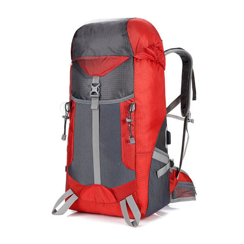 sac a dos voyage 50l rouge