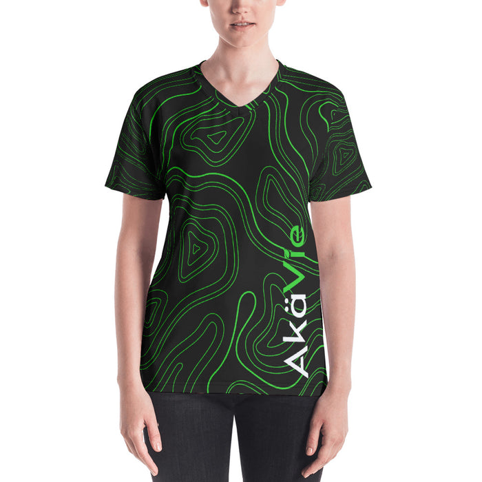 AkäVie Women's Topography V-neck