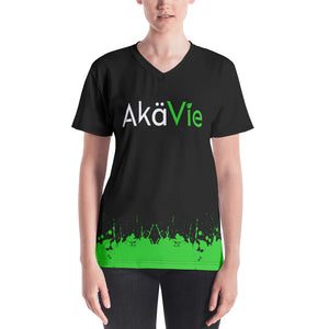 AkäVie Women's Splash V-neck