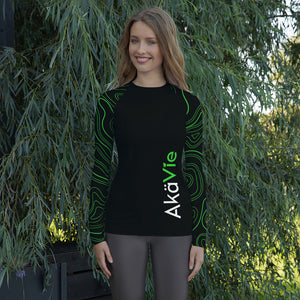 AkäVie Women's Topography Rash Guard