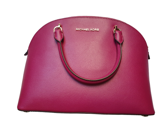 Michael Kors Bag Large Dome Satchel (Magenta)