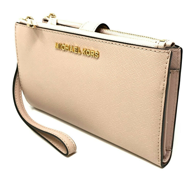 Michael Kors Double zip top Womens wristlet (Blossom)