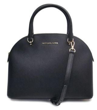 Michael Kors Bag Large Dome Satchel (Black)