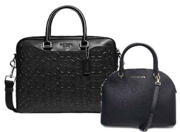 Michael Kors Dome Satchel + Coach Leather Laptop Bag (Black)