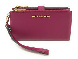 Michael Kors Double Zip Top Womens wristlet (Magenta)
