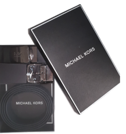 Michael Kors 4 in 1 Gents Belt Box Set (Black)