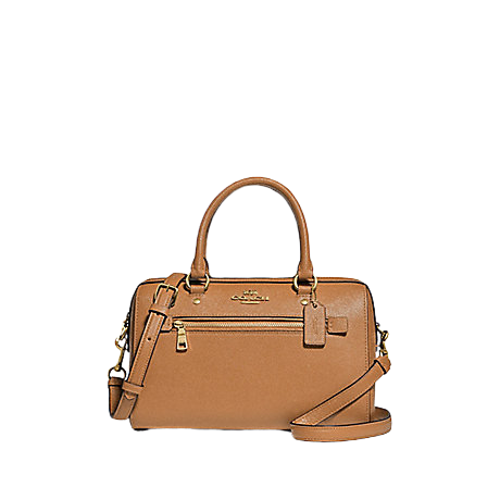 COACH Rowan Satchel In Signature Canvas (Light Saddle)