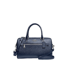 Load image into Gallery viewer, COACH Rowan Satchel In Signature Canvas + Michael Kors Watch (Metallic Blue)