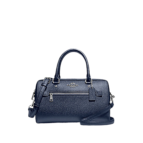COACH Rowan Satchel In Signature Canvas (Metallic Blue)