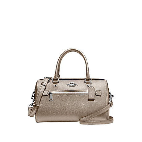 COACH Rowan Satchel In Signature Canvas (Platinum)