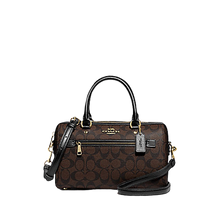 Load image into Gallery viewer, COACH Rowan Satchel In Signature Canvas (Brown Black)