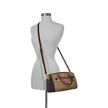 Load image into Gallery viewer, COACH Rowan Satchel In Signature Canvas + Double Zip Wallet (Brown)