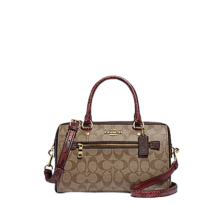 COACH Rowan Satchel In Signature Canvas (Khakhee Multi)
