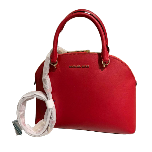 Michael Kors Bag Large Dome Satchel (Scarlet)