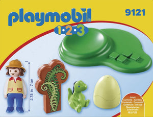 Playmobil 1.2.3 Girl with Dino Egg