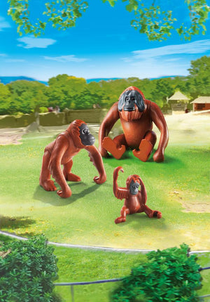 Load image into Gallery viewer, Playmobil 6648 Orangutan Family