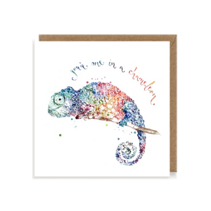 You're One In A Chameleon Greetings Card