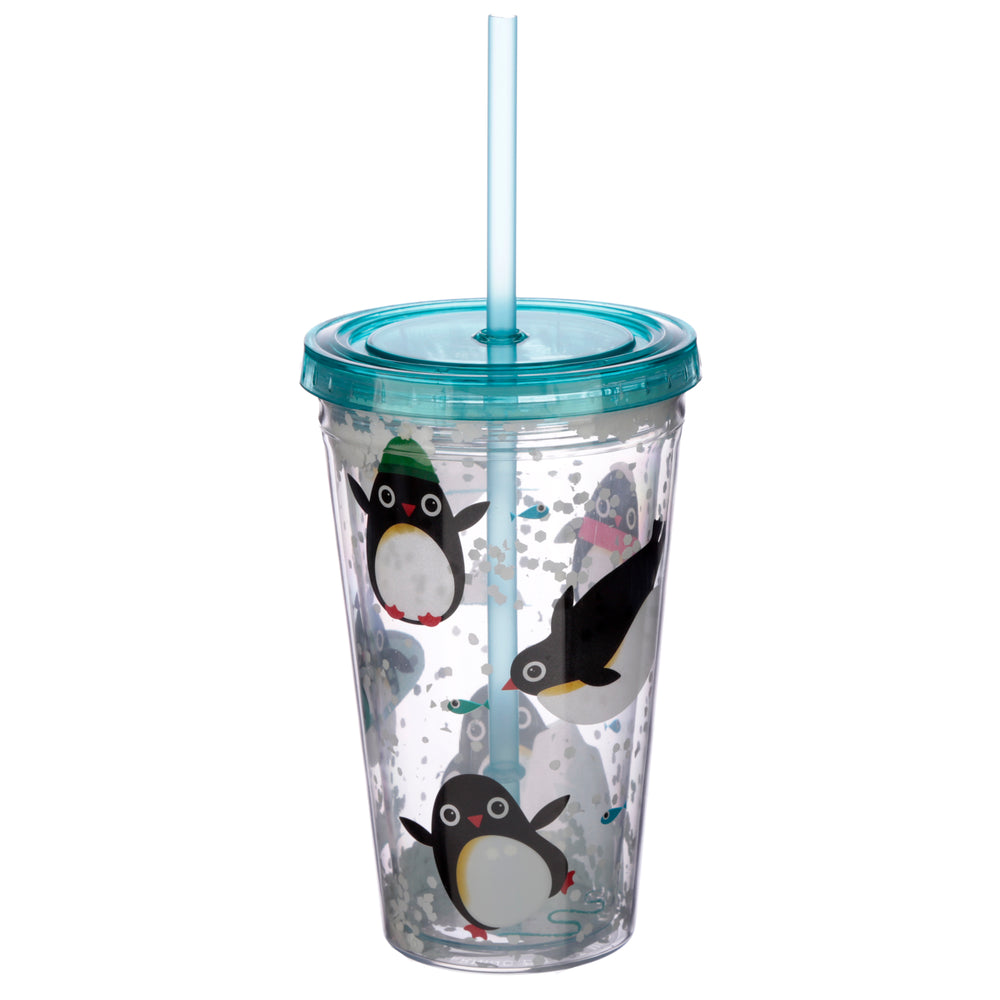 Penguin Cup with Straw