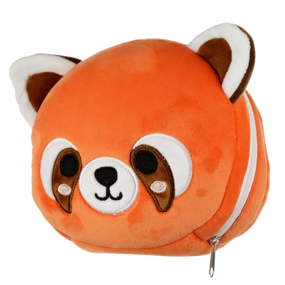 Load image into Gallery viewer, Red Panda Eye Mask and Travel Pillow
