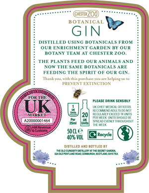 Chester Zoo Gin 50CL - Limit of 2 per transaction