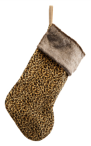 Load image into Gallery viewer, Faux Fur Leopard Print Stocking
