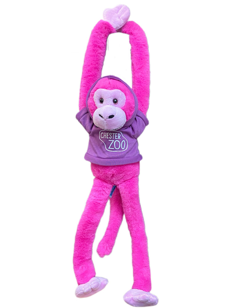 Load image into Gallery viewer, Pink Hanging Monkey