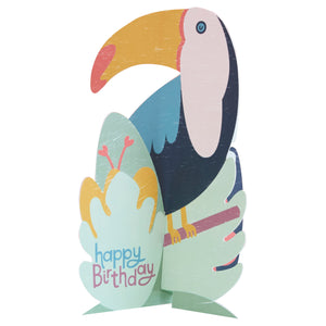 Load image into Gallery viewer, Birthday Toucan Pop-Up Card