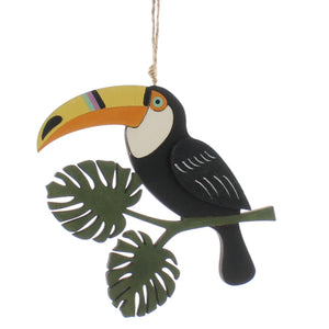 Toucan on Branch Wooden Decoration