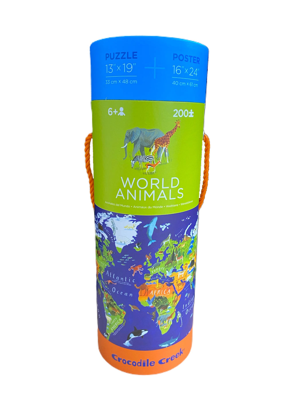 World Animals Puzzle & Poster