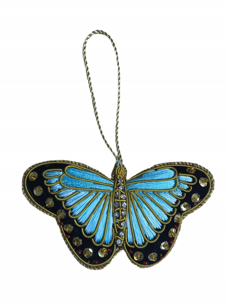 Load image into Gallery viewer, Turquoise Butterfly Decoration