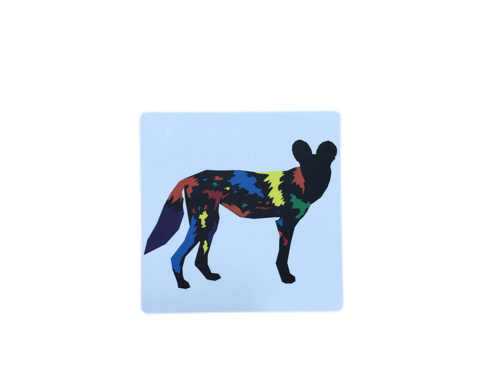 Chester Zoo Colourful Painted Dog Coaster