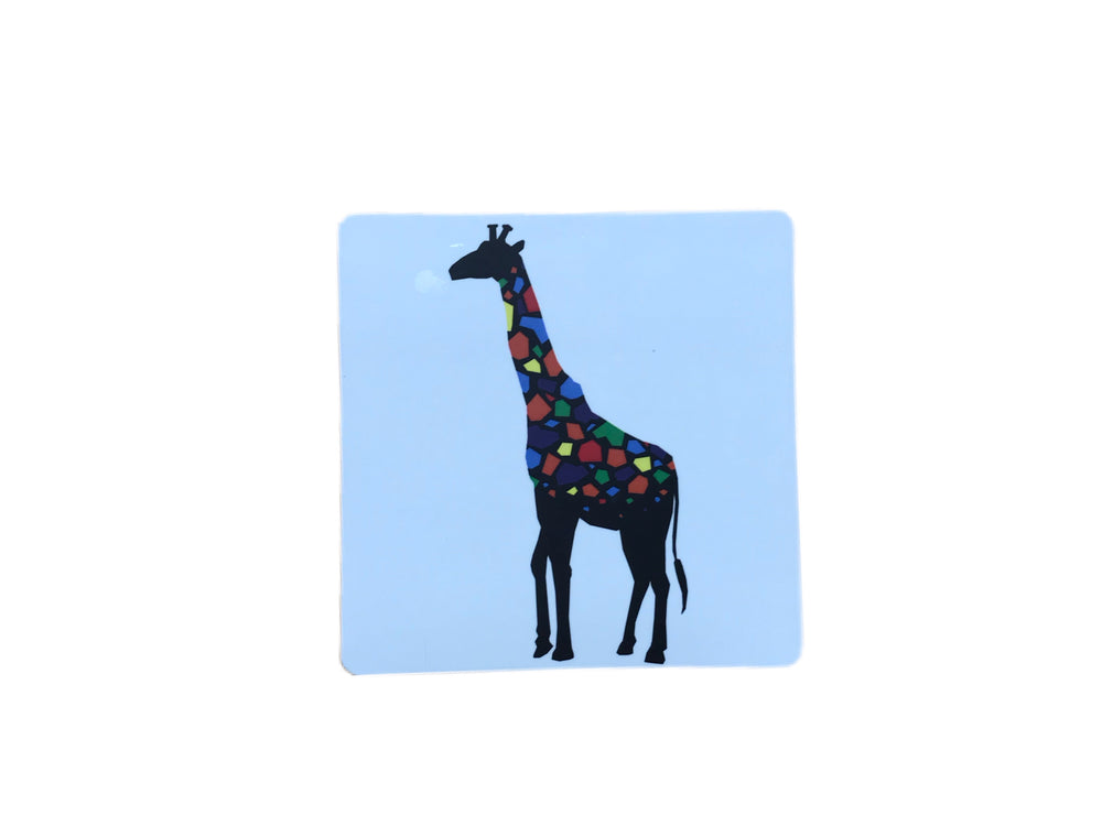Chester Zoo Colourful Giraffe Coaster