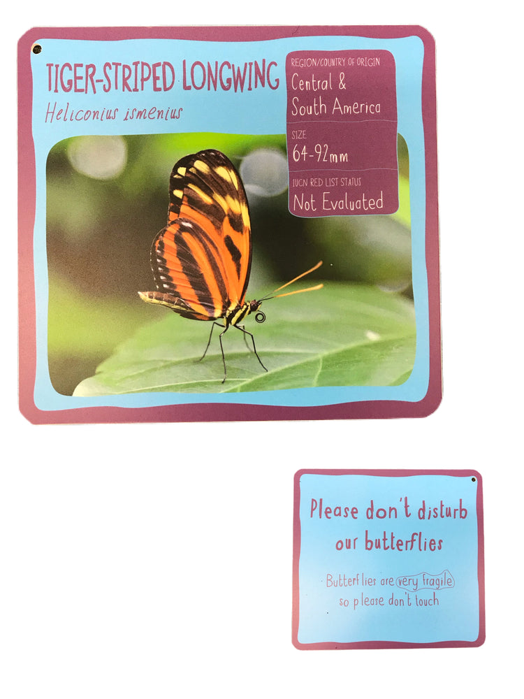 Tiger-Striped Longwing Double Sided Sign
