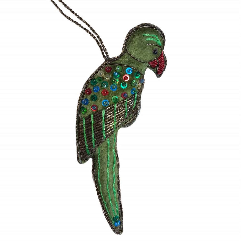 Beaded Parrot Decoration