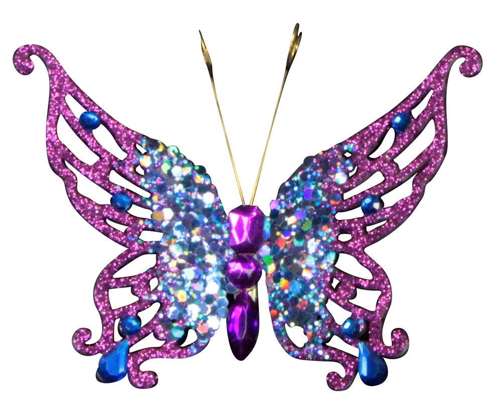 Jewelled Butterfly Clip-on