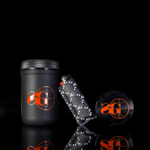 Sniper Gang 4 Piece Grinder (Black/Orange)