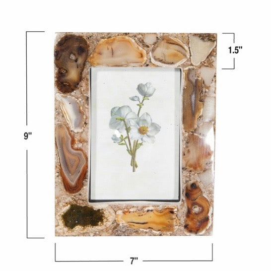 Creative Co-Op - 4x6 Agate Frame