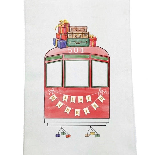 Nola Tawk - Just Married Kitchen Towel