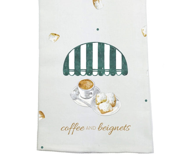 Nola Tawk - Coffee and Beignets Kitchen Towel