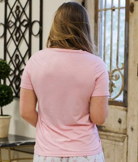 Royal Standard - Highlands V-Neck Pocket T-Shirt in Light Pink