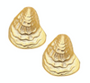Susan Shaw - Gold Oyster Shell Post Earring