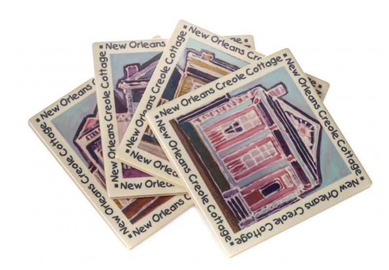 The Parish Line - Creole Cottages Coasters (Set of 4)