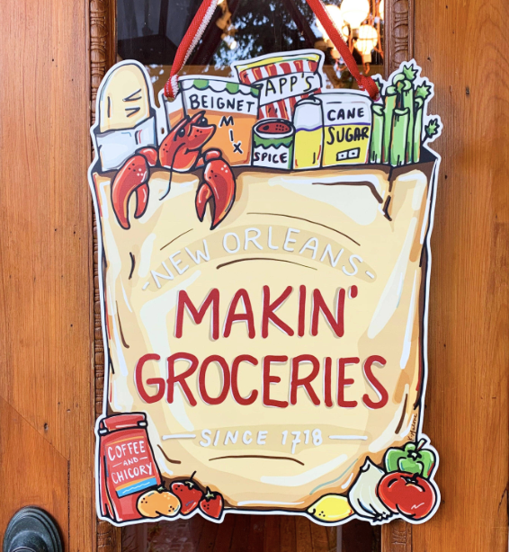 Home Malone - Makin' Groceries Door Hanger