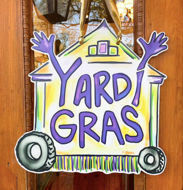 Home Malone - Yardi Gras Door Hanger
